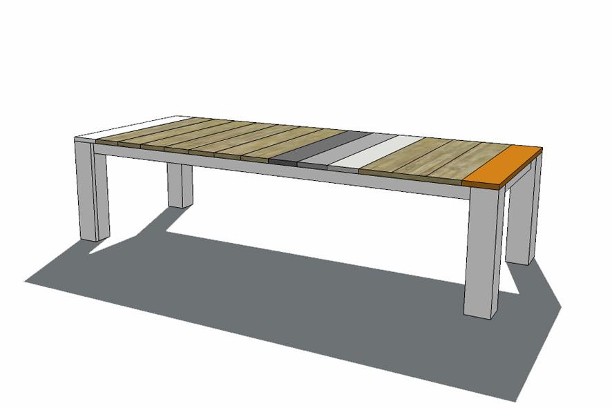 Visualisatie, vergadertafel op maat, Detron