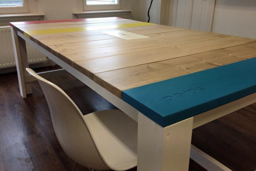 150 x 250 - steigerhout - bureau op maat