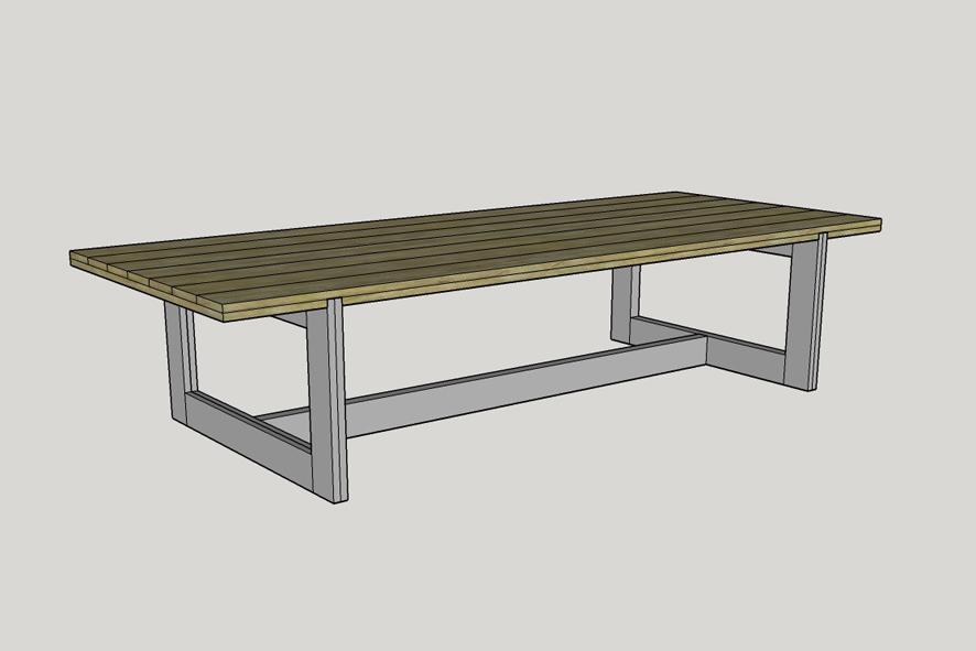 Tafel laten ontwerpen, tafel op maat, 14 personen