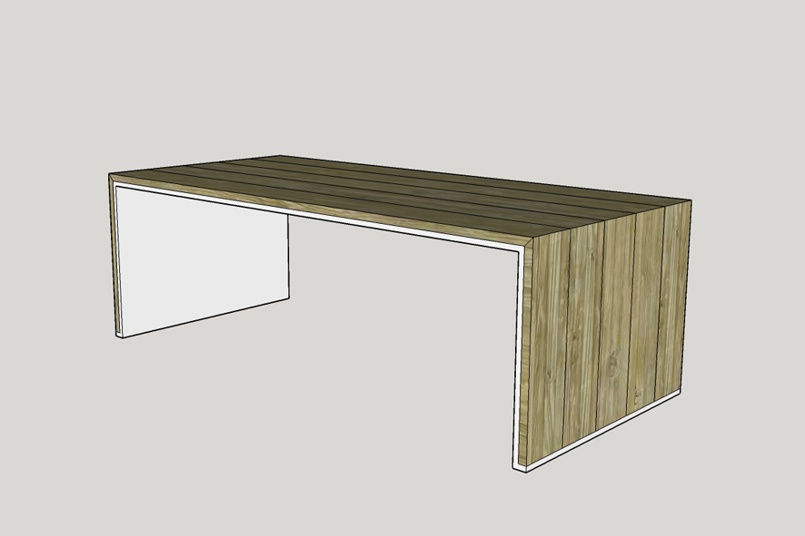 Tafel laten ontwerpen, tafel 8 personen op maat