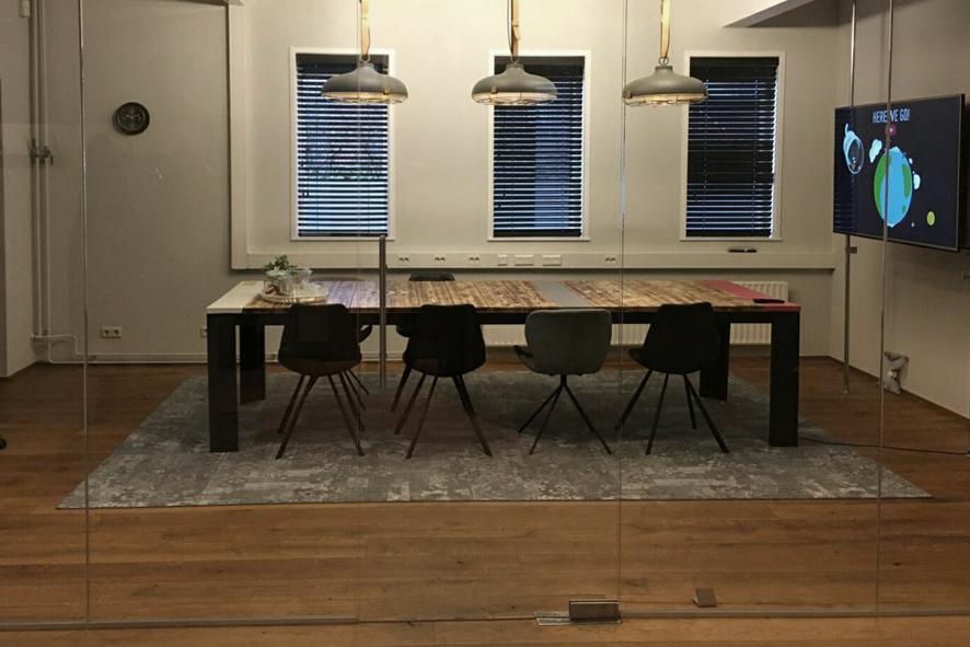 Industriele vergadertafel, vergadertafel 10 personen, vergadertafel op maat